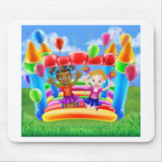 Kids Jumping on Bouncy Castle Mouse Pad