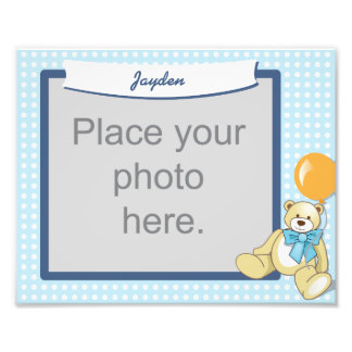 Kids keepsake teddy bear printed photo frame