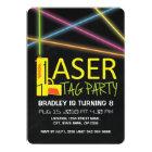 Kids Laser Tag Birthday Party Invitation