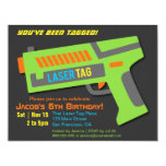 Kids Laser Tag Birthday Party Invitations