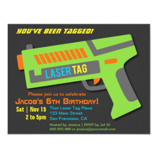 Kids Laser Tag Birthday Party Invitations
