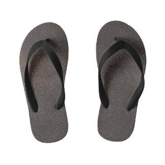 Kids Leather look designer slim-Straps Sandals Flip Flops