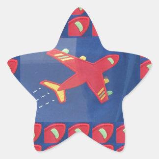 Kids Love Aeroplane Aircraft Flight Travel Holiday Star Sticker