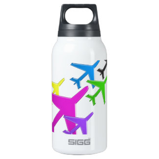 KIDS LOVE Aeroplane avion vol voyageurs FUN 10 Oz Insulated SIGG Thermos Water Bottle