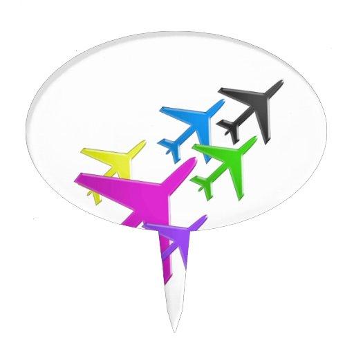 KIDS LOVE Aeroplane avion vol voyageurs GIFTS FUN Cake Toppers