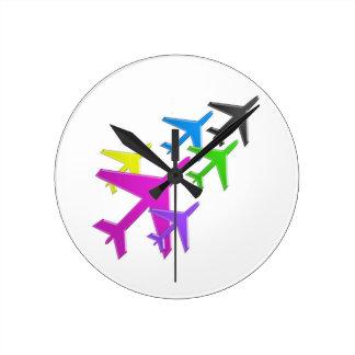 KIDS LOVE Aeroplane avion vol voyageurs GIFTS FUN Clocks