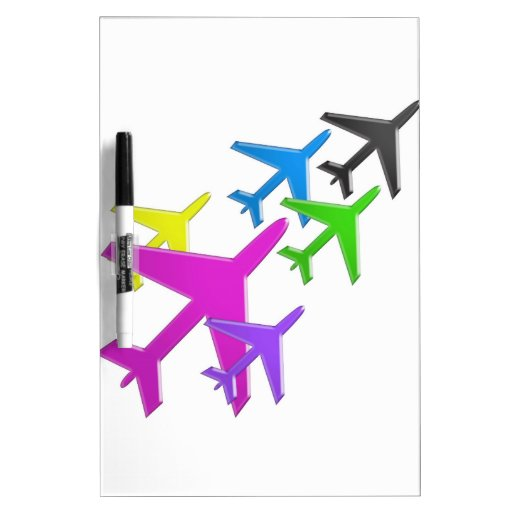 KIDS LOVE Aeroplane avion vol voyageurs GIFTS FUN Dry Erase Board