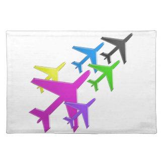 KIDS LOVE Aeroplane avion vol voyageurs GIFTS FUN Placemat