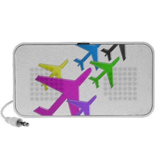 KIDS LOVE Aeroplane avion vol voyageurs GIFTS FUN Laptop Speakers