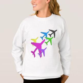 KIDS LOVE Aeroplane avion vol voyageurs GIFTS FUN Sweatshirt