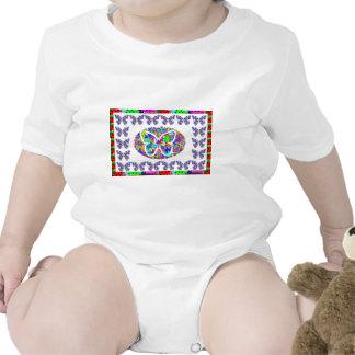 KIDS love Butterflies - Happy Christmas n New Year Baby Bodysuit
