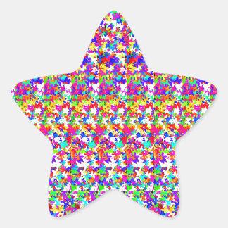 KIDS love butterfly pattens Artistic Texture Cute Star Sticker