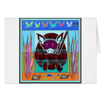 KIDS love Cartoon Animals Greeting Card