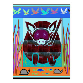 KIDS love Cartoon Animals Postcard