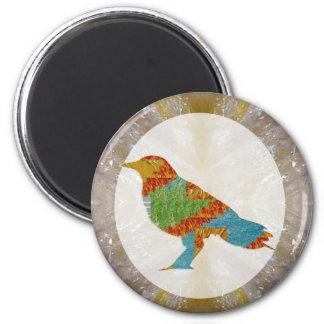 Kids Love Crow Bird Wild Zoo 2 Inch Round Magnet