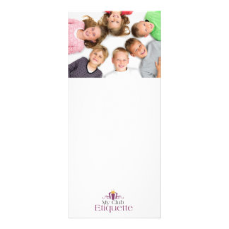 Kids Love Etiquette Rack Card Design