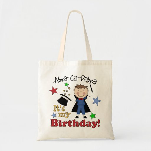 Kids Magician Birthday Canvas Bag