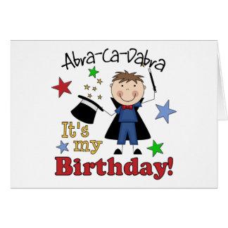 Kids Magician Birthday Greeting Card