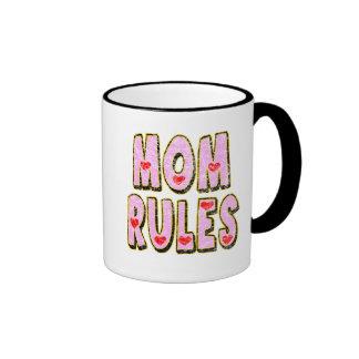 Kids Mom Rules T Shirts and Kids Gifts Coffee Mugs