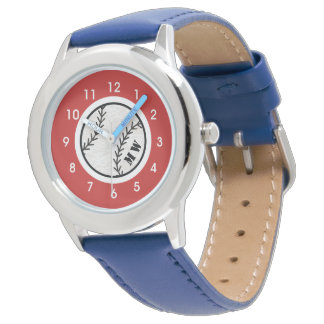 Kid's Monogram baseball Watch