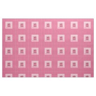 """Kid's Monogrammed """"M"""" Pink Moose Fabric"""