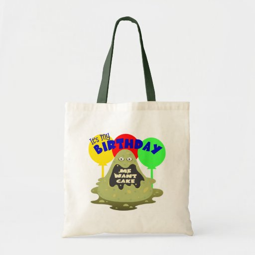 Kids Monster Birthday Canvas Bags