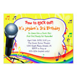 Kids Music / Singing / Karaoke Colourful Personalized Announcements