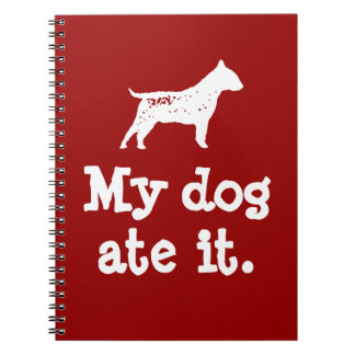 "Kid's ""My Dog Ate It"" Back To School Notebook"