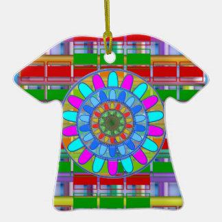 Kids n Guest Room Deco: Unique Rich Energy Prints Double-Sided T-Shirt Ceramic Christmas Ornament