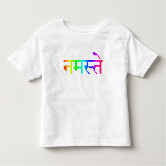 Kids Namaste Rainbow Shirt