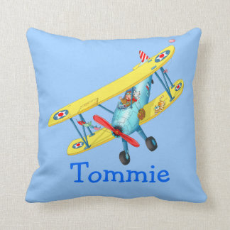 Kids name airplane - Customized pillow