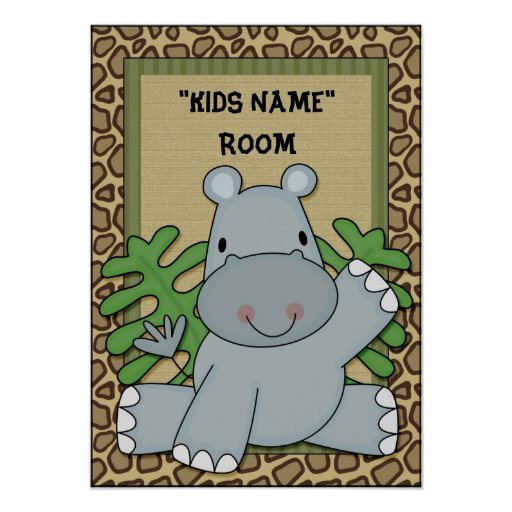 Kids name Hippo Poster