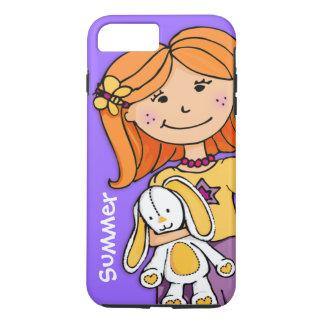 Kids name iphone girl cuddle purple yellow iPhone 7 plus case