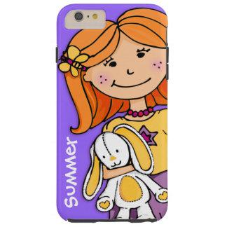 Kids name iphone girl cuddle purple yellow tough iPhone 6 plus case