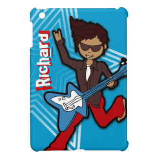 Kids name rockstar guitar boy blue ipad mini cover for the iPad mini