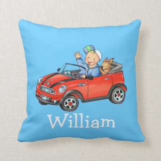 kids name Toy Car - Customized pillow