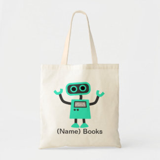 Kids named id Robot book tote bag