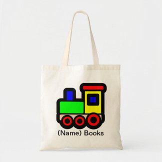 Kids named id Train book tote bag