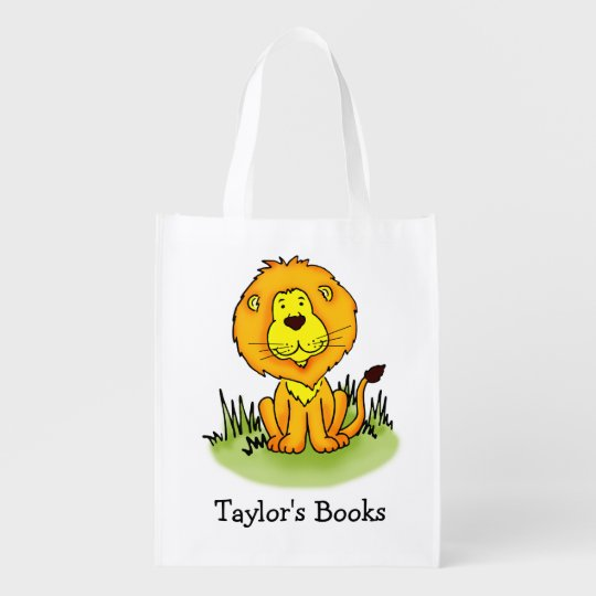 Kids named Lion library book bag