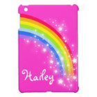 Kids named rainbow bright pink ipad mini cover