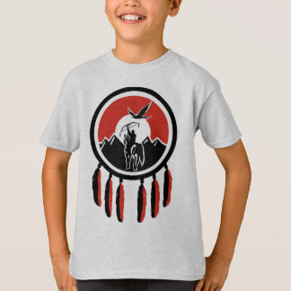 Kid's Native American Indian Shield T-Shirt