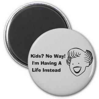Kids No Way 6 Cm Round Magnet