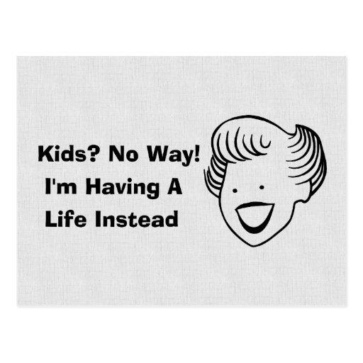 Kids No Way Post Cards