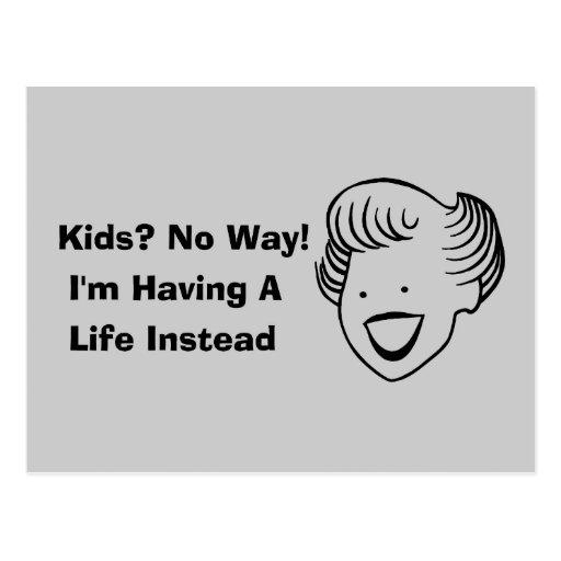 Kids No Way Post Card
