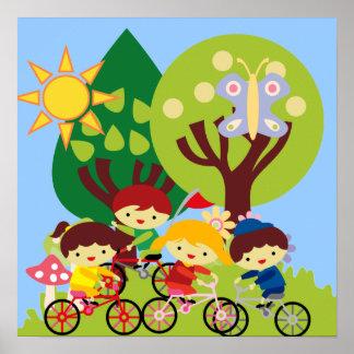 Kids on Bikes Poster