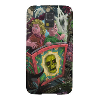 Kids on Creepy Ghost Train fun fair ride Galaxy S5 Cover