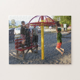 Kids on Playground Circle Puzzle