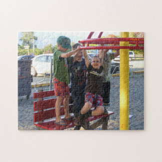 Kids on Playground Circle Puzzle #2