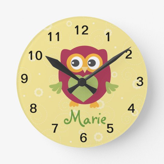 Kids Owl Wall clock