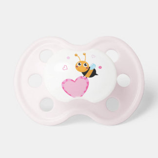 Kids pacifier with Bee with Heart